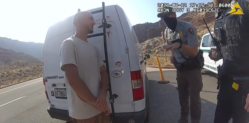 Moab Police Pull Over Brian & Gabby